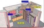 분리형 주방 배기 시스템 계통도