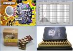 왼쪽 위로부터 베타글루칸의 체내흡수 모식도, 꽃송이버섯 베타글루칸의 분말입도 분석그래프, 미국 수출 나노베타CS-1, 개발중인 나노베타-아쿠아 시제품