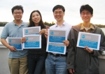 세계 비즈니스 시뮬레이션모듈 우승팀 좌측부터 박상규, 김신옥, 장일환, 이길한씨