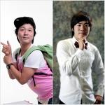 2009 SBS 공채 11기 개그맨에 선발된 백제예술대학 출신 이민우(좌)와 김윤호(우)