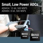 아나로그디바이스, 1.8 V 500 MSPS 저전력 ADC 발표