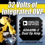 아나로그디바이스, 업계 최초의 ±30V 이상의 입력 과전압 보호를 지원하는 정밀 연산 증폭기 발표