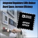 아나로그디바이스, 벅 레귤레이터와 LDO를 2개씩 통합한 보다 작고 유연한 전력 관리 IC 발표