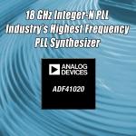아나로그디바이스, 10월 신제품 'ADF41020 PLL 주파수 합성기' 발표