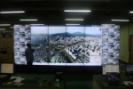ViewFlex를 이용하여 대형비디오월(46 inch LFD 24대)에 전시하는 모습 (1)