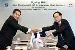 한국남부발전이 지난 2일 STX남산타워에서 (주)STX의 인도네시아 IAC 광산 투자를 위한 MOU를 체결했다. 이상호 한국남부발전 사장(사진 왼쪽), 김대유 (주)STX사장(사진