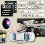 아나로그디바이스, 자동차 비디오 애플리케이션용으로 배터리 단락 보호 및 결함 감지 회로 통합한 비디오 증폭기 출시