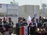 이희범 STX중공업∙건설 회장이 지난 17일 이라크 디와니야(Diwaniyah)에서 열린 디젤발전플랜트 상업운전 기념식에서 연설하고 있다.