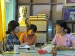 아웅산 수치여사와 하자작업장학교 청소년들과의 회견(2011.2)