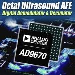 아나로그디바이스, 업계 최초 디지털 I/Q 복조 및 데시메이션 필터 탑재된 8채널 초음파 수신기 선보여