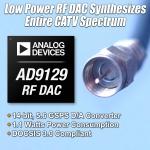 아나로그디바이스(www.analog.com, NASDAQ: ADI)는 단일 D/A 컨버터 포트로 풀 다운스트림 케이블 스펙트럼을 합성할 수 있는 2종의 RF(radio freque