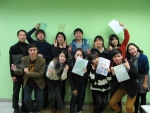Youth delegation delivers shoes and does cultural exchanges