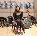 4일 잠실종합운동장 일대에서 열리는 '제22회 서울국제휠체어마라톤대회' 풀코스에 도전하는 김수민 선수.