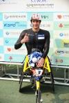 제22회 서울국제휠체어마라톤대회에서 우승을 차지한 스위스의 마르셀 훅