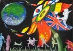 한국이주노동재단은 19일 제 6회 세계인의 날을 기념하여 '다문화 미술대회'를 개최하였다.  법무부장관상(대상)을 수상한 남희정(중앙고 1) 학생은 지구촌의 다양한 민족들이 한줄기