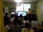 무료특강교육본부 박미애 강사가 아동학대예방교육을 실시하고 있다.