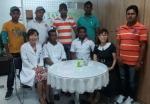 앞줄 왼쪽에서 첫 번째가 차병원 사회복지 담당자, 두번째가 라산테,오른쪽에서 두 번째가 한국이주노동재단 조정화 선생님, 나머지 친구들