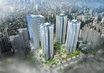 초고층 랜드마크 아파트 래미안 강동팰리스 계약이 실시됐다.