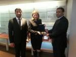 Colonel Mohammed Hamid bin Dalmouj Al Dhaheri, Ms. Anne-Mary Slaughter and Major Ali Abdullah Bin Da