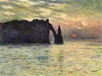 The Cliff, Etretat, Sunset(에트르타 절벽의 일몰)