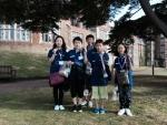 한국주니어대표팀이 기념 촬영을 하고 있다. 왼쪽부터 김유재, 유다진, 박해강, 박해민, 유진교 선수