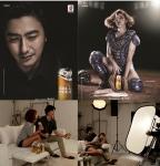 K리그 공식 맥주 볼비어가 안정환·강윤이가 함께한 볼비어 화보 촬영 현장을 공개했다