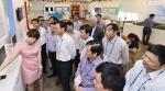 베트남 고위 공무원단이 8일 세종시 조치원읍 소재 세종창조경제혁신센터에서 스마트 팜 관리 시스템에 대한 설명을 듣고 있다
