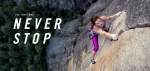 """노스페이스가 사람들이 탐험을 보는 방식을 바꾸기 위해 최초의 글로벌 브랜드 광고인 """"네버 스탑(Never Stop)""""을 공개했다"""