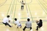 한국프로농구 선수 양동근·함지훈·김선형이 성남시 한마음복지관 지적농구팀에 수준별 맞춤 농구 지도를 했다
