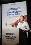 호우 샤오난 텐센트 오픈플랫폼 대표가 28일 열린 2016 텐센트 글로벌 스타트업 대회 한국 지역 결선에서 텐센트 이노베이션 스페이스와 창업자들의 동반 성장에 대해 발표하고 있다
