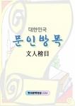 ▲ 문인방목 표지