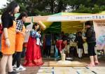 한화가 9일 성동종합사회복지관 및 성동장애인종합복지관과 함께 소월아트홀 야외광장에서 열린 한마음 나눔축제 행사를 함께했다