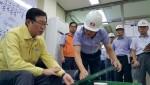 한국전력 조환익 사장이 13일 경주 지진발생과 관련 진원지 인근지역인 신고리 원자력발전소, 울주변전소 등 주요 전력설비에 대한 현장점검을 실시했다
