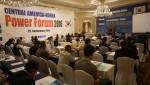 Central America-Korea Power Forum 2016에서 과테말라 루이스 창 나바로 에너지광물부 장관이 발표하고 있다