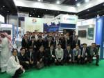 두바이 WETEX 2016 전시관 내 한국-전력그룹사 공동전시관에서 한전, 발전6사, 참가 중소기업 직원들