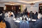 한국G-PASS기업수출진흥협회 유인수 회장이 6일 그랜드 인터콘티넨탈 서울 파르나스 호텔에서 해외 바이어를 초청해 열린 글로벌 조달 상담회 개회식에서 환영사를 하고 있다