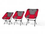 헬리녹스가 16일부터 개최되는 캠핑&피크닉 페어에서 올해 출시 예정인 신제품을 공개한다. 좌측부터 헬리녹스 체어원 Red, 체어원 L Red, 체어원 XL Red