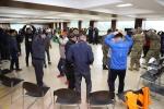 국립평창청소년수련원이 육군 제1야전군사령부 소속 주임원사들이 의사소통 역량강화 게임을 하고 있다