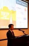 대한전선 최진용 사장이 14일 SCE가 개최한 기념식에서 축사를 하고 있다