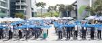 은평구자원봉사센터가 24일 은평구청 앞마당에서 은평자원봉사의해를 선포했다
