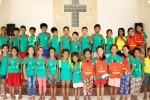 사단법인 해피피플과 하나금융그룹 하나사랑봉사단이 함께 진행한 기부책가방이 캄보디아 현지 아동들에게 전달되었다