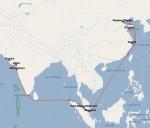 현대상선 China West India Express 서비스