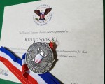 한국무도연수원 가광순 원장이 공개한 미국대통령 표창장과 표창메달