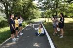 국립평창청소년수련원 올림픽수화캠프 참가자들이 동계올림픽 홍보 UCC를 제작하고 있다