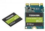 도시바 메모리 코퍼레이션이 64레이어 3D 플래시 메모리를 이용한 단일 패키지 NVMeTM 클라이언트 SSD를 출시했다