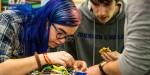 존슨앤웨일즈의 로봇공학 전공학생들