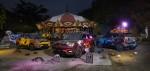 쌍용자동차가 핼러윈을 앞두고 한껏 꾸민 티볼리 아머와 함께 핫플을 누비는 로드쇼를 개최했다