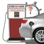 Enevate의 초고속 충전이 가능한 실리콘 전극이 적용된 리튬이온 배터리 기술로 전기 자동차 배터리를 5분 충전으로 최대 240마일까지 주행할 수 있다