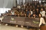 가꿈 사업결과보고회에서 참석자들이 기념 촬영을 하고 있다