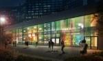 2018 FIFA 러시아 월드컵 동안 현대 모터스튜디오 모스크바 건물 외관 벽면에 조성될 경기 대진표 파사드